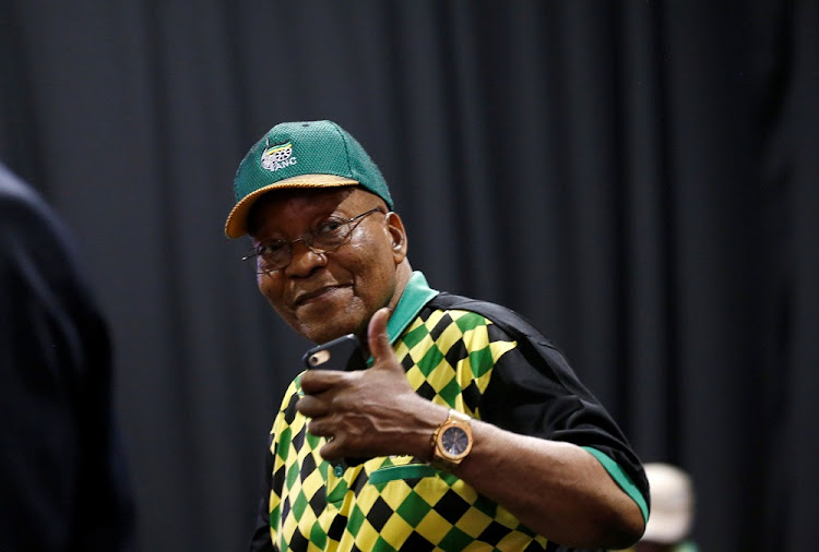 Former president Jacob Zuma gestures during the 54th ANC national conference in Johannesburg. Picture: REUTERS