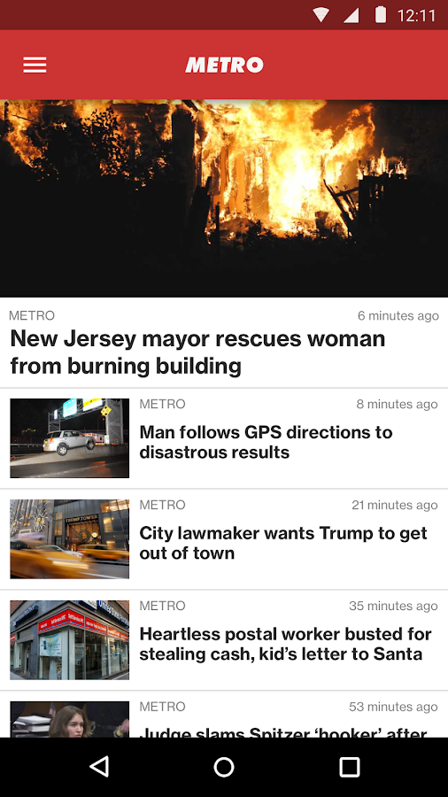 New York Post for Phone: captura de pantalla
