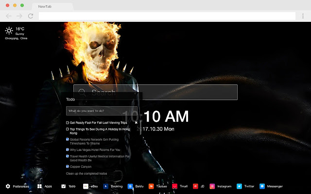 Evil Knight Popular Marvel HD New Tabs Theme