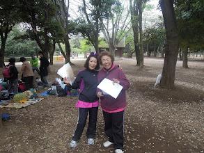 Photo: えっちゃんとえりこママ 二人とも紫色と黒のウェアで決まってます!