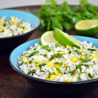 Lime-Cilantro Rice with Corn and Jalapeno
