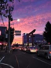 Photo: 中村公園前の夕日です。