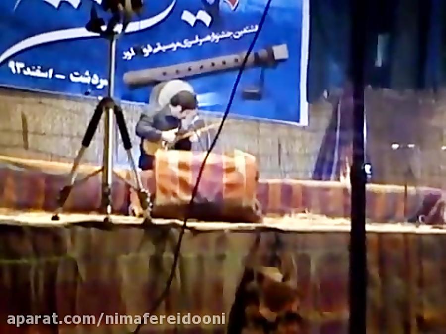 تکنوازی تنبور در جشنواره سردشت مصطفی عزیزی مقام