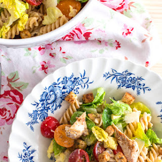 Lighter Chicken Caesar Pasta Salad Recipe
