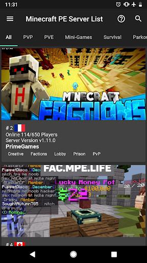 Server List for Minecraft Pocket Edition 1.0.21 screenshots 1