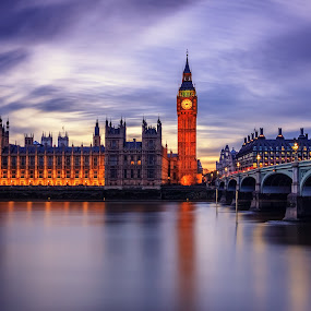 London tranquility by Florin Ihora - Buildings & Architecture Public & Historical ( london, nd, long exposure, bridge, big ben, filter,  )