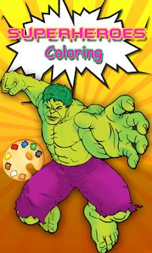 Download Hulk Halaman Mewarnai Superhero Mewarnai Buku Apk Latest