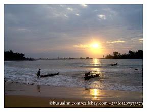 Photo: Ezile bay village, sunset,
