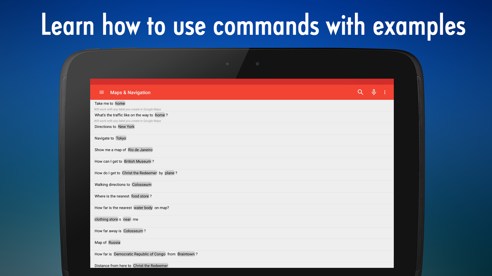 Voice Commands Guide for OK Google  Android Apps on Google Play