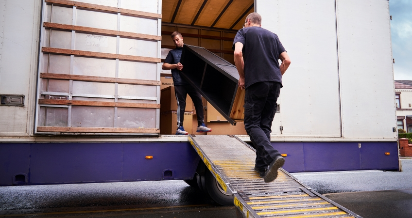 Men loading a moving truck