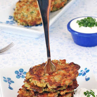 Baked Broccoli Cheese Rice Fritters.