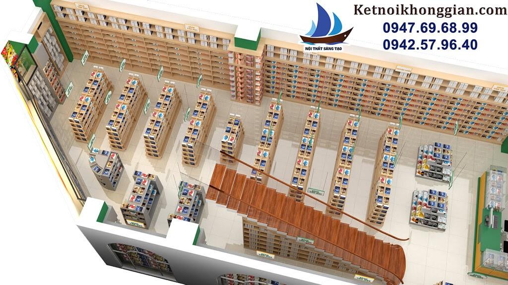 thiết kế nhà sách với nội thất sáng tạo