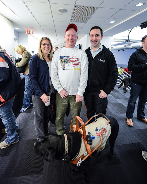 Photo: Wounded warriors spent the afternoon at the Google NYC office. They teamed up with other veterans who work at Google to tour to office and explore new technologies that will help them transition.  (Wounded Warriors: Transitioning to the Civilian Workplace | November 8, 2012)