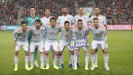 El once de España.