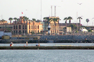 Photo: Torre Reloj (Muelle de Guerra, Callao) from the ship as we are leaving