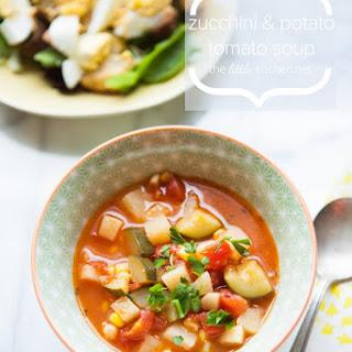 Zucchini and Potato Tomato Soup