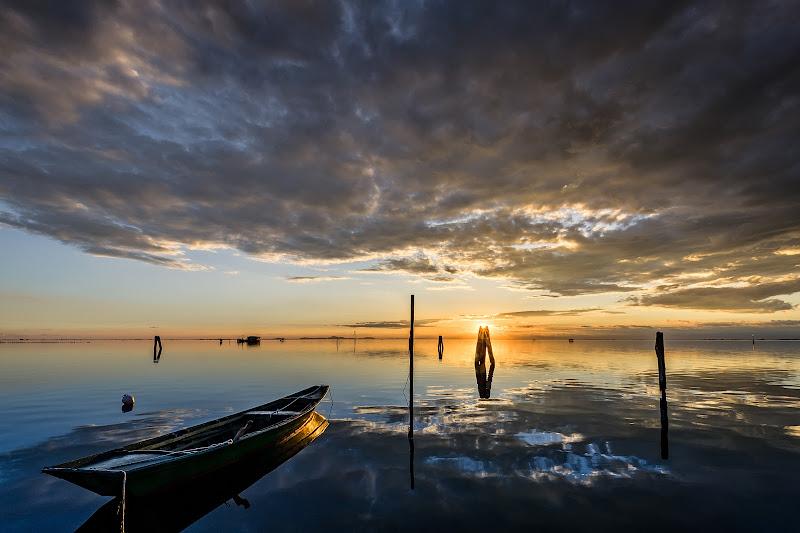 Tramonto sulla laguna di Damiano Tomasin