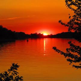 Up The Creek by Howard Sharper - Landscapes Waterscapes ( golden hour, waterscape, sunset, riverside, landscape,  )