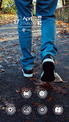android Foot Leaves Theme Screenshot 2