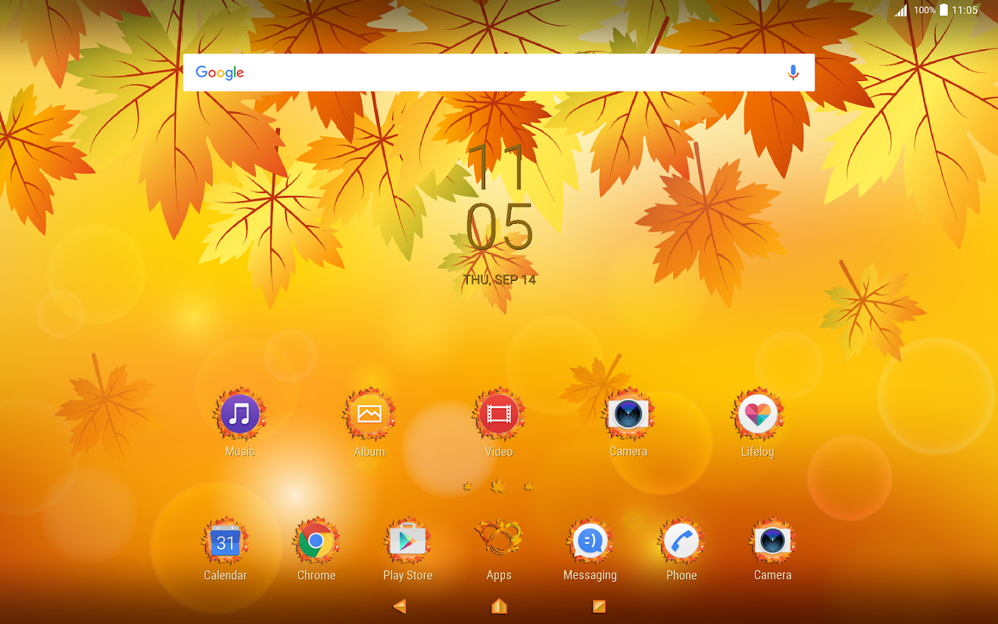 fall leaves for xperia android apps on google play