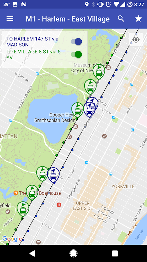 NYC Bus Map Live Android Apps On Google Play - Bus map brooklyn