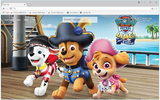 Paw Patrol HD Wallpaper Paw Patrol New Tab