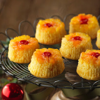 Pineapple-Coconut Upside-Down Cupcakes
