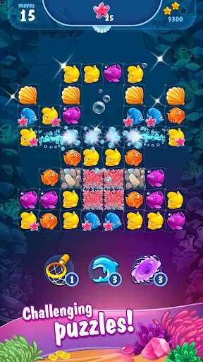 Mermaid - treasure match-3 androidhappy screenshots 1