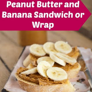 Crunchy Peanut Butter and Banana Wrap or Sandwich.