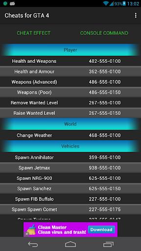 Cheats guide for GTA 4 1.5.1 screenshots 1