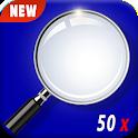 Super Magnifier Zoom Camera - LED Flashlight icon