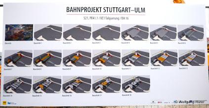 Photo: Die einzelnen Bauabschnitte zu S21, PFA1.1 / VE1 Talquerung / BA 16