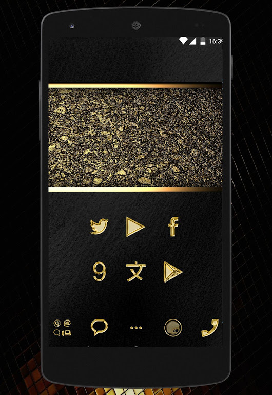 metal gold solid - icon pack