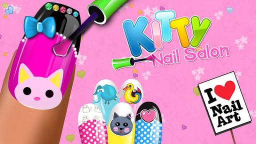 Kitty Nail Salon - Nail Art Design & Coloring Game screenshot