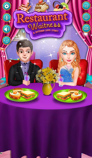 Kitchen Love Story - Restaurant Waitress Love Game screenshots 1