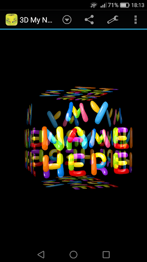 玩免費漫畫APP|下載3D My Name Funny Wallpaper app不用錢|硬是要APP