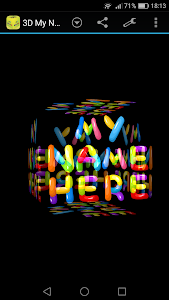 3D My Name Funny Wallpaper screenshot 3