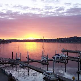 A beautiful morning by Darrin McNett - Landscapes Sunsets & Sunrises ( boats, sunrise,  )