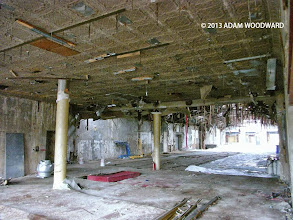 Photo: Inside the former Atlantic Gardens beer hall at 50-52 Bowery.  The structure, which is currently slated for demolition, sits on what is believed to be the footprint of a historic tavern and livestock market dating back to the 18th century.  Acting on a hunch, preservationist Adam Woodward toured the site and discovered a cellar which very well could be the foundation of the Revolutionary War era Bull's Head Tavern.  If so, this will be one of the most important archaeological discoveries on Manhattan Island in recent history.  Footage taken in October, 2013.