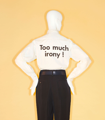 Camp: Notes on Fashion. Shirt by Franco Moschino for House of Moschino.  Spring/summer 1991.