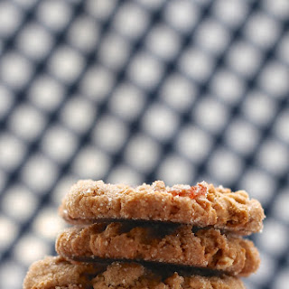 Peanut Butter Bacon and Dark Chocolate Cookies