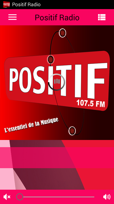 POSITIF RADIO – Capture d'écran