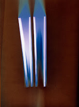 Photo: © Olivier Perrot Photogram Photogramme coul lecture 2000 40x54cm Ref : livre0094
