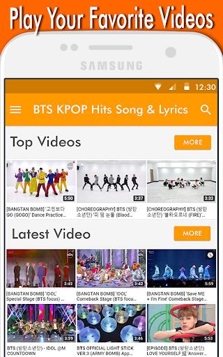 BTS KPOP Hits Song & Lyrics 1.0 screenshots 2