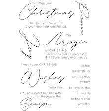 Kaisercraft Clear Stamps 6X4 - Christmas Wishes