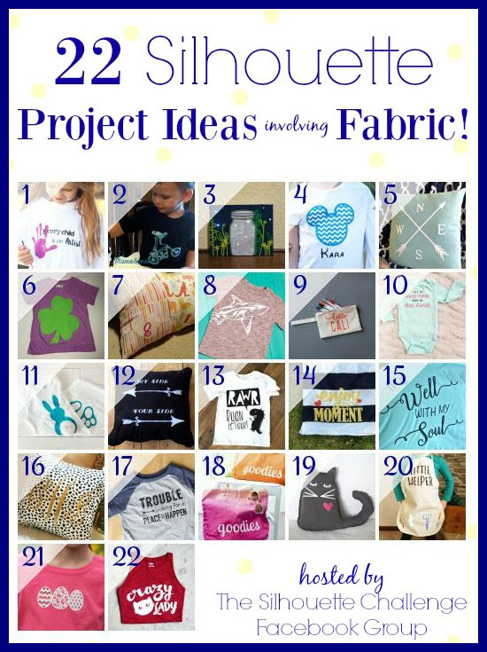 22 Silhouette Challenge Project Ideas Involving Fabric! | Where The Smiles Have Been