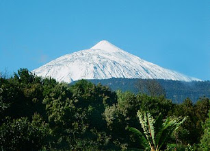 Photo: El Teide white from back garden
