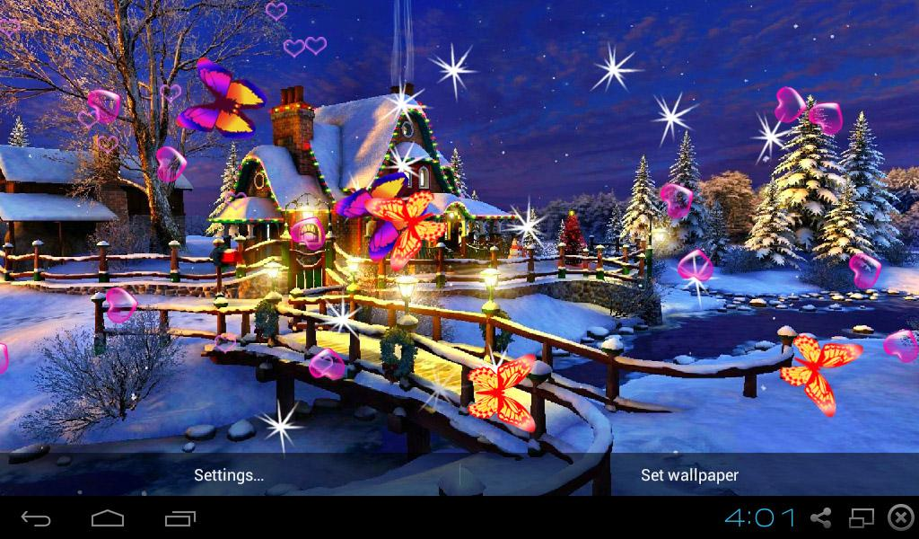 3d christmas wallpapers android apps on google play. Black Bedroom Furniture Sets. Home Design Ideas