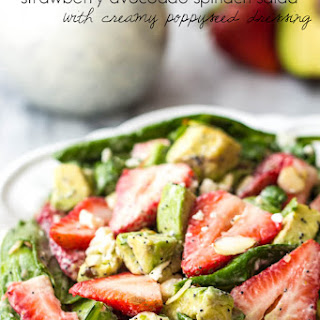 Strawberry Avocado Spinach Salad with Creamy Poppyseed Dressing Recipe
