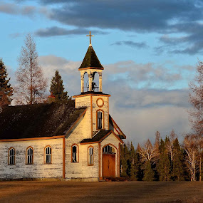 Prayer at Sunset by Rita Taylor - Buildings & Architecture Places of Worship ( prayer, building, church, sunset, landscape, light,  )